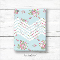 iPad, Galaxy, air, mini, 2, 3, 4, tablet, note, 7.0, 10.1, 12.2, sleeve, case, chevron, flowers, floral, vintage, gift, CharmingPrints™