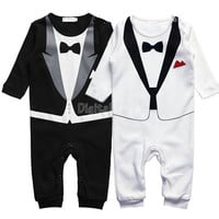 Baby Boy Kid Casual Romper Gentleman Pants long sleeve climb clothes Sets   baby clothing for boys kids 19873