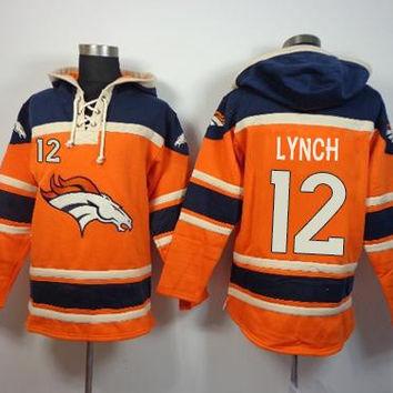 Denver Broncos #12 Paxton Lynch Super Bowk 50 Pullover Hoodie - Multiple Styles
