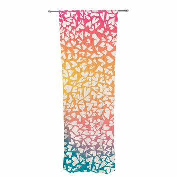 "Robin Dickinson ""First Love"" Pink Blue Digital Decorative Sheer Curtain"