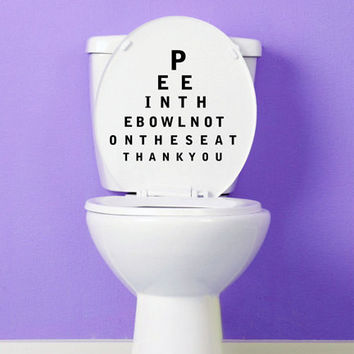 Pee In The Bowl Toilet Decal
