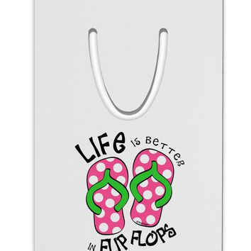 Life is Better in Flip Flops - Pink and Green Aluminum Paper Clip Bookmark