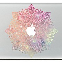 """Last Innovation Leaves With Milky Way Removable Vinyl Decal Sticker for Macbook 13"""""""