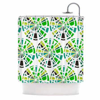 "Patternmuse ""Precious Emerald"" Green Olive Illustration Shower Curtain"