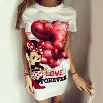 ac DCK83Q Hot Sale Women's Fashion Balloon Butterfly Mouse Print One Piece Dress [9266408204]