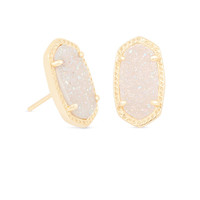 Kendra Scott Ellie Earrings Gold In Iridescent Drusy