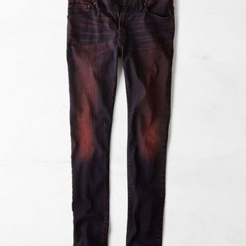 AEO 's Skinny Jean (Tinted Red Overdye)