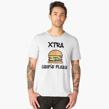 """Xtra Cheese Please Hamburger Double Cheeseburger"" Men's Premium T-Shirt by Dreambigdigital 