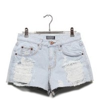 Denim shorts - Trashed - Pants & Shorts - Women - Modekungen | Clothing, Shoes and Accessories