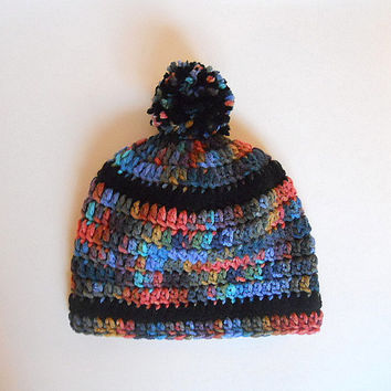 Baby  Hat With Stripes And Pom Pom Infant Girl Cap Toddler Boy Winter Beanie 6 To 12 Months Unisex Gender Neutral  Fall Skullcap