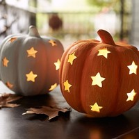 Pumpkin with Stars Luminaries | Pottery Barn Kids