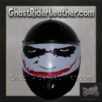 Joker Motorcycle Helmet Visor Sticker / SKU GRL-JOKER-HI