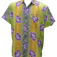 La Leela Men's Multicoloured Beach Hawaiian Shirt