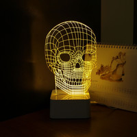 Touch Dimmer 3d Skull Lamp Night Light Abajur USB Novelty Dimmable Led NightLight Bed Room Lampara as Creative Gift