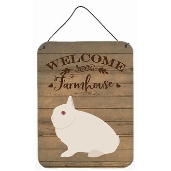 Hermelin Rabbit Welcome Wall or Door Hanging Prints CK6908DS1216