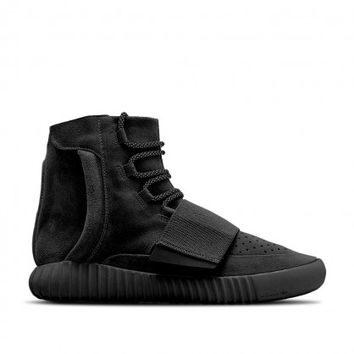 Adidas BB1839 Yeezy 750 Boost Black/Black-Black (Men Women)