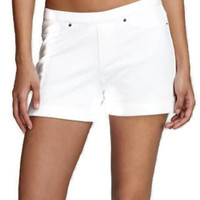 HUE Women's Stretch Chinos Shorts