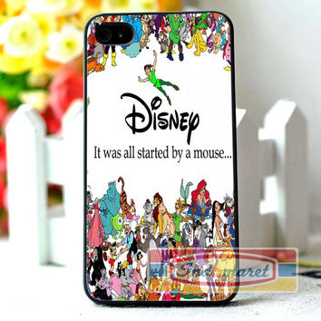 Disney All Characters - iPhone 4/4s, iPhone 5/5s/5c, Samsung Galaxy S3/S4/S5 Case by INDOMARET