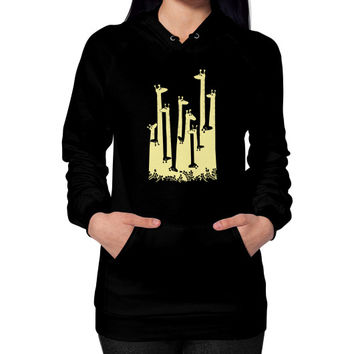 Giraffe Double Vision Hoodie (on woman) Shirt