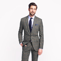 Ludlow suit jacket with double vent in Prince of Wales glen plaid English wool - wool suiting - Men - J.Crew