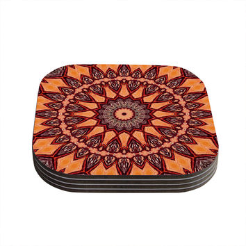 "Iris Lehnhardt ""Colors of Africa"" Brown Orange Coasters (Set of 4)"