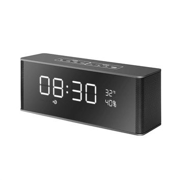 Multifunctional Digital Alarm Clock Radio with Wireless Bluetooth Stereo Speakers