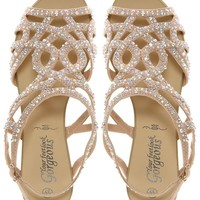 New Look Fabulous Diamante Trim Flat Sandal