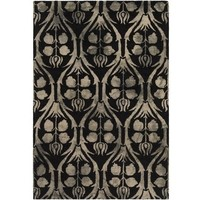 Watercolor Floret Black Rug