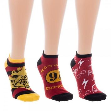 Harry Potter Ankle Socks 3 Pack
