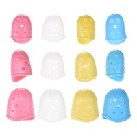12pcs Guitar Fingertip Protectors Silicone Finger Guards for Ukulele Electric/Acoustic Guitar Bass 4 Colors