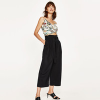 CULOTTES WITH BOW DETAILS
