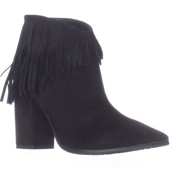 Kenneth Cole REACTION Pull Ashore Fringe Ankle Booties, Black, 10 US / 41 EU