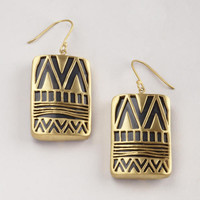 Gold Over Black Drop Earrings | World Market