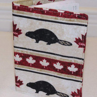 Passport Cover, Document Holder, Canada Maple Leaf, Beaver