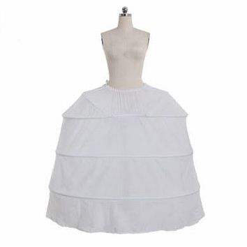 Rococo Gown Dress Petticoat Full Crinoline Wedding Party Underdress Jupon Underskirt 4 Hoop