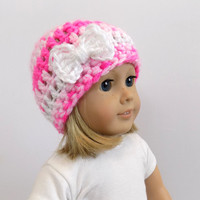 Knit Doll Hat, Doll Clothes, 18 Inch Doll Accessories