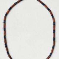 AEO Women's Wooden Bead Necklace (Brown)