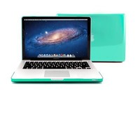 "GMYLE® Turquoise Robin Egg Blue Clear Crystal Frosted Hard Shell Clip Snap On Case Skin Cover for Apple 13.3"" inches Macbook Pro Aluminum Unibody - With Silicon Turquoise Robin Egg Blue Protective Keyboard Cover - 2 in 1 -"