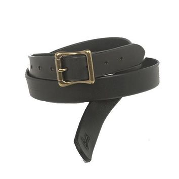 """The Guthrie 1"""" Wide  Guitar Strap - Black Bridle Leather"""