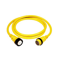 Marinco 50Amp 125/250V Shore Power Cable - 25' - Yellow