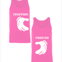 forever together matching couple sweatshirt - Unisex Couple Tank Top