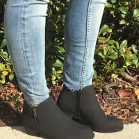Double Zipper Booties - Black