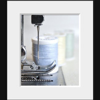 Sewing Room Decor, Thread Needle Craft Photography, Hobby Art
