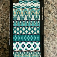 iPod Touch 4 Tribal Aztec iPod Touch Case Available in Black or White