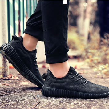 2017 AEMBOTIONEN brand  casual  shoes pu leather all-match shoes 350style kanye west simple handmade