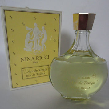 Vintage Nina Ricci Paris L'Air du Temps Eau de Toilette 100 ml 6.76 fl. oz.