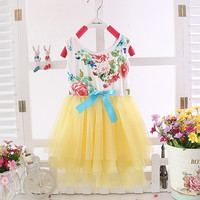 Hot Fashion New Baby Kids Girl Children's Wear Sleeveless Costumes Cute Dress