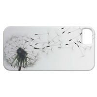 Dandelion Clock Seed Blowing Dandelion Iphone 5 Cases from Zazzle.com