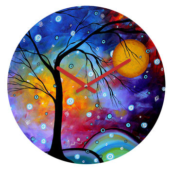 Madart Inc. Winter Sparkle Round Clock