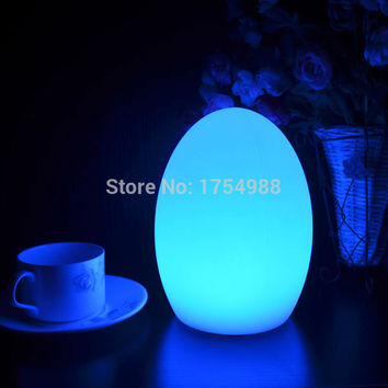 free shipping LED Egg bar table lamp,Dining Room Rechargeable Decorative light 7 Colors in One D10*H22cm Gifts LED Lamp